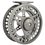Goture Fly Fishing Reel Waterproof 2+1BB 5/6 7/8 9/10 Aluminum Alloy Body CNC Machine Cut Fishing Reel Large Arbor Die Casting Aluminum Fly Reel With Bag
