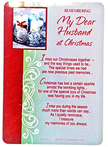 Christmas In Loving Memory Of Husband Missing You Memorial Memoriam