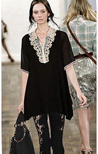 Mujer Camisa Blusa elegante mujer Blusa – Camiseta de mujer – Camiseta de mujer – Punta algodón manga corta cuadrada Recorte, color Negro - negro, tamaño XL: Amazon.es: Deportes y aire libre