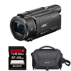 Sony Fdrax53b 4k Hd Video Recording Camcorder (Black) Bundle