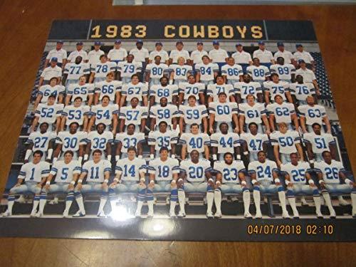 1983 Dallas Cowboys Team Picture 8x10 card photo