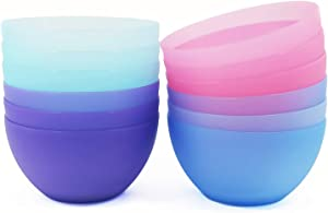 6-inch / 32-ounce Plastic Bowls for Cereal or Salad   set of 12 in Coastal Colors