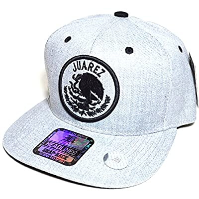 AblessYo ! Mexico City w/Flag Embroidered Silver Snapback Flat Cap Durable Baseball Hat AYO1041