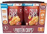 Quest Nutrition Protein Chips, BBQ, 22g Protein, 2g Net Carbs, 130 Cals, Low Carb, Gluten Free, Soy Free, Potato Free, Baked, 1-1/8oz Bag, 8 Count