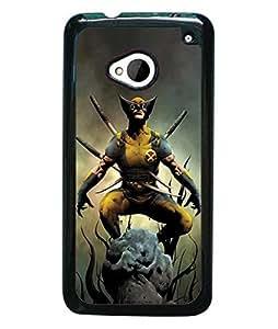 Superhero Comics Wolverine HTC One M7 Funda Case High Impact Special For boys Hard Plastic Phone Funda Case