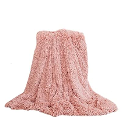 YOUSA Super Soft Shaggy Faux Fur Blanket Ultra Plush Decorative Throw Blanket