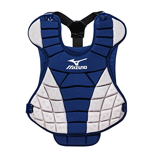 Mizuno Samurai Fastpitch Softball Chest Protector, Navy/Grey Mizuno Samurai Chest Protector