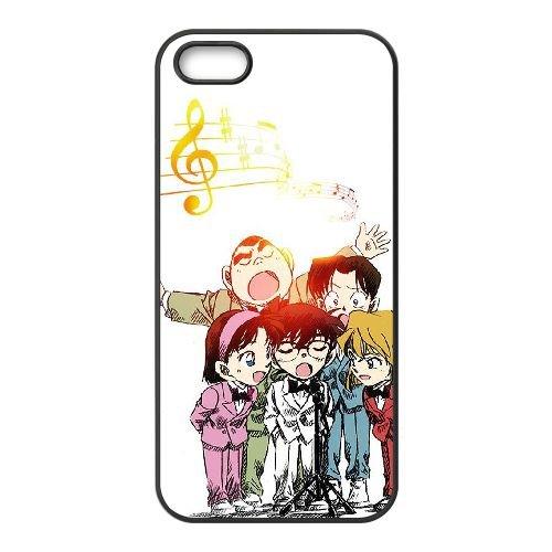 C5U23 Detective Conan O7N1PM coque iPhone 5 5s cellulaire cas de téléphone couvercle coque noire DI3RTK4BP