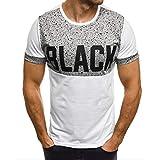 Cool T-Shirts for Boys,Men's Spot Printed Slim Splice Casual Fashion Lapel Short Sleeve Shirt,Men's Big & Tall Fashion Hoodies,White,M
