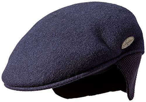 Kangol Men's Wool 504 Earlap Flat Ivy Cap HAT, Navy, S