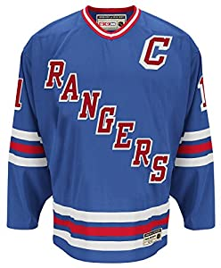 "Mark Messier New York Rangers CCM ""Heroes of Hockey"" Authentic Blue Jersey"