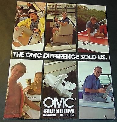(1980 OMC STERN DRIVE INBOARD SAIL DRIVE OUTBOARD SALES BROCHURE 12 PAGES)