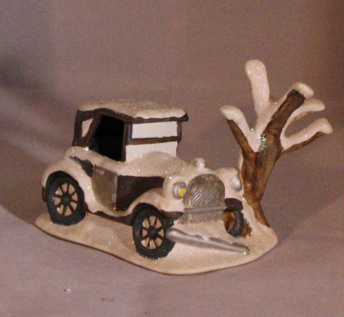 Enesco It's A Wonderful Life Porcelain Figurine - George Bailey's Car - Part of the Bedford Falls Village Set