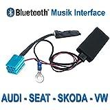Receptor audio Bluetooth para Volkswagen, Audi, Seat, Skoda OEM Radio con mini ISO Conector