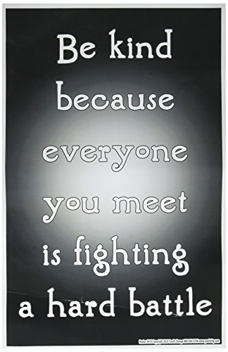 Youth Change Inspirational Kindness Poster: 'Everyone is Fighting a Hard Battle' Poster 473