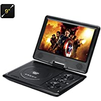 Generic Portable Region-Less DVD Player with 270 Swivel Screen, Hitachi Lens, 16:9 Aspect, 1280X800 Resolution SD Card Slot (9-inch)