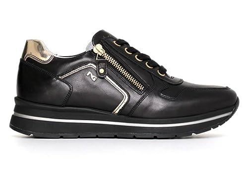 Nero Giardini P719480D Nero e Antracite Sneakers Scarpe Donna Calzature Comode