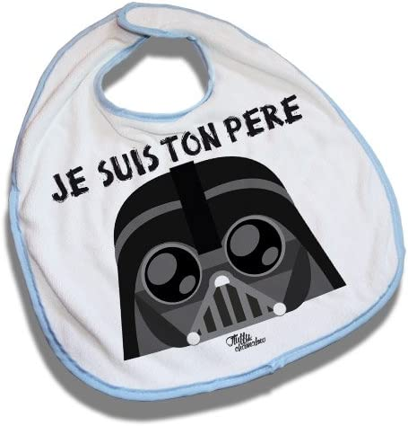 Bavoir Bleu Dark Vador Je Suis Ton Père Star Wars Kawaii Chibi By Fluffy Chamalow Fabriqué En France Chamalow Shop