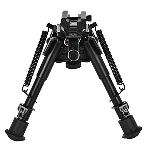 CVLIFE 6-Inch to 9-Inch Hunting Tactical Rifle Bipod Adjustable Handy Spring Return with Adapter