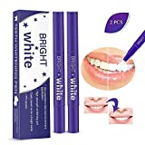 2 Pcs Teeth Whitening Pen, 18+ Uses, Professional Bright Whitening Pen, O-CONN Whitening Treatments, No Sensitivity, Travel-Friendly, Beautiful Brilliant Smile, Effective Remove Stains