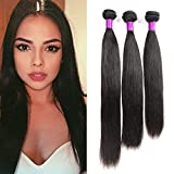 FEIBIN 8A Grade Virgin Brazilian Straight Hair 3 Bundles 100% Unprocessed Brazilian Virgin