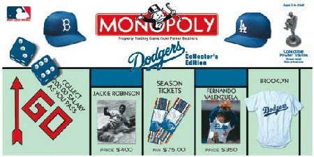 Dodgers Baseball Collectors Monopoly Board product image