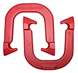 Challenger Professional Pitching Horseshoes- made in USA! (Red- Single Pair (2 shoes))