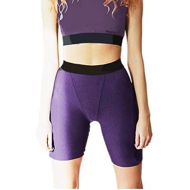 Chickwin Pantalones Cortos Yoga Mujer Cintura Alta Sexy ...