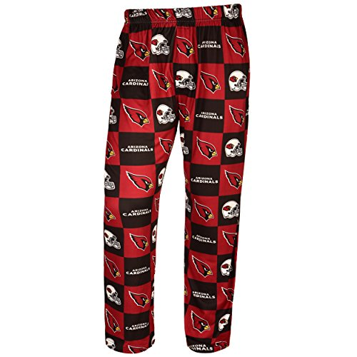 Forever Collectibles NFL Mens Repeat Print Lounge Pants,Arizona Cardinals