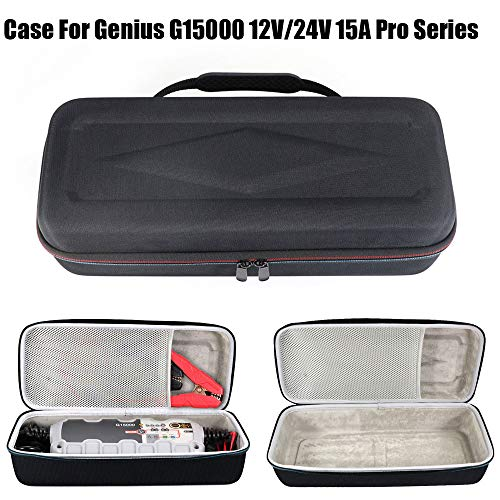 Sodoop Case Bag Compatible for G15000 12V/24V 15A Pro Series UltraSafe Smart Battery Charger, Portable Carrying Case Travel Shock-Proof Storage Bag, Black