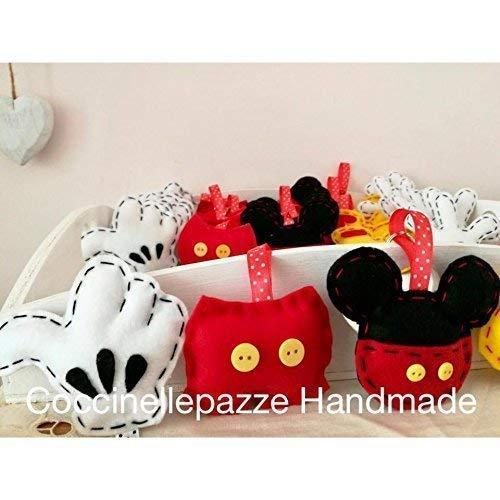 1 Pezzo Mickey Mouse Topolino Party Portachiavi In Feltro
