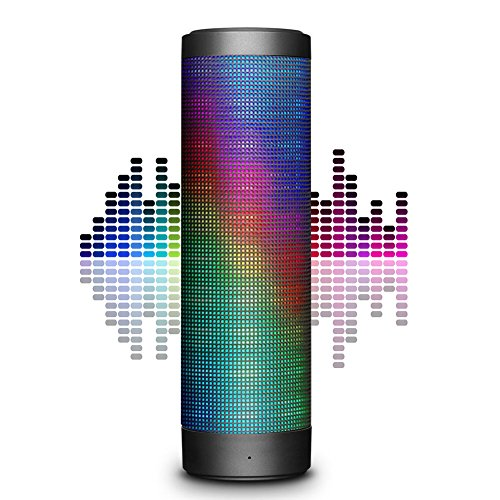 Portable Wireless Bluetooth Speaker, Hi-Fi 4.0 Stereo Speaker with Colorful LED Lights Built-in Mic, AUX, TF, FM Radio, Hands Free Support for iPhone, Samsung, Android Smartphone, iPad, Laptop by Supone