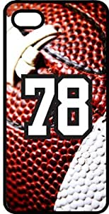 Baseball Sports Fan Player Number 78 Black Plastic Decorative iPhone 5c Case