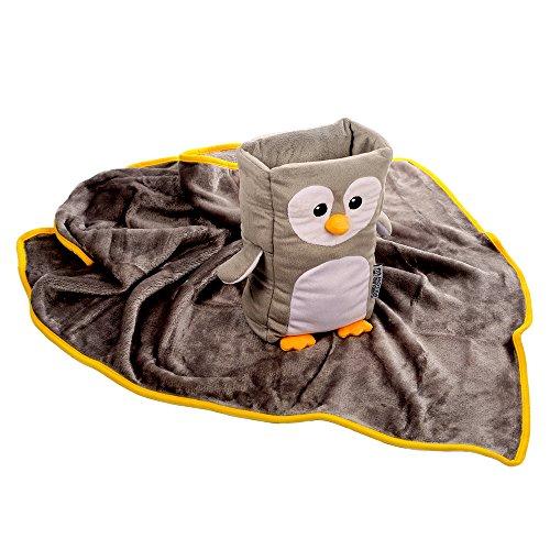 Kids Travel Pillow And Blanket Set Tux Armrest Buddy