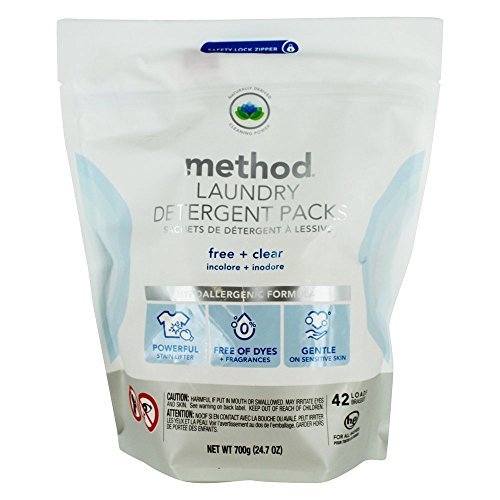 Method Laundry Detergent Packs Free Clear 42 Loads 24 7 oz 700 g