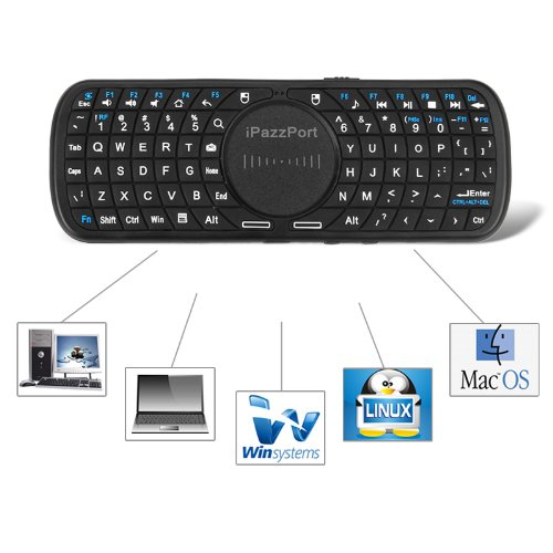 iPazzPort® Handheld Mini Wireless Touchpad Keyboard for Google Nexus 7 / Google Android TV / iPhone 4 4S 3GS 3G / Samsung Galaxy S S2 S3 / HTPC / PC / Iphone / Android Tablet / Mac OS