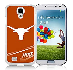 Popular And Unique Custom Designed Case For Samsung Galaxy S4 I9500 i337 M919 i545 r970 l720 With NCAA Big 12 Conference Big12 Football Texas Longhorns 3 White Phone Case