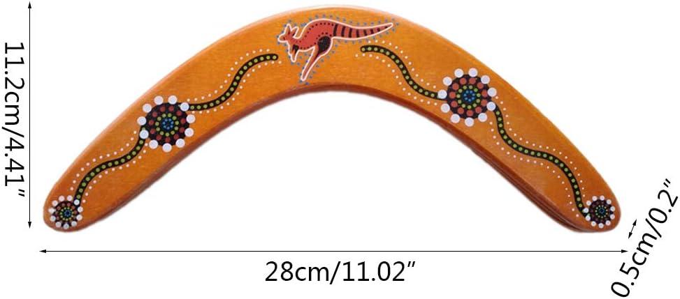Boomerang seguro para ni/ños para lanzar luz a sin viento geneic Boomerangs de madera