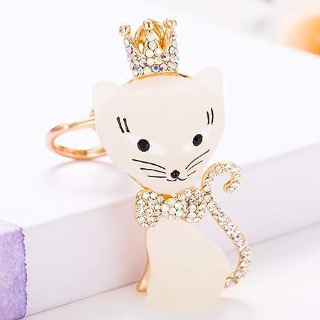 Amazon.com: Llavero con forma de reina de gato y animales de ...