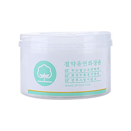 Lurrose Toallitas de Papel de Algodón Desechables para Desmaquillantes Removedor de Maquillaje y Limpiar de Facial