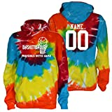 JANT Girl Custom Basketball Tie Dye Sweatshirt Girls Game Logo