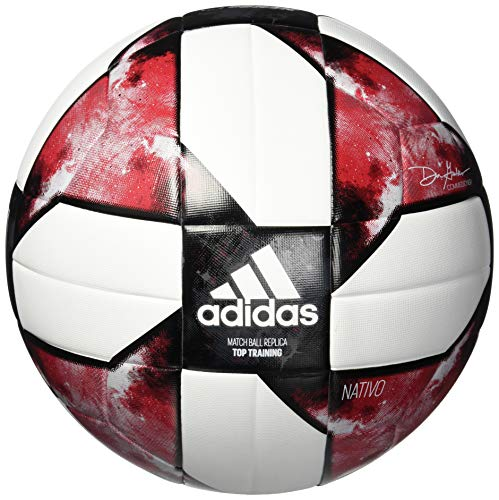adidas MLS Top Training Soccer Ball White/Black/Active Red, 5 ()