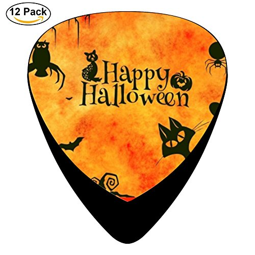 Sylvia Halloween Cat Celluloid Guitar Picks Unique designs Music Gifts (Halloween Door Music For Kids)