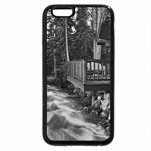 iPhone 6S Plus Case, iPhone 6 Plus Case (Black & White) - Swiftly Flowing River