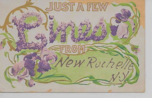 Pc Just (New Rochelle New York Just a Few Lines From embosses antique pc Z24028)
