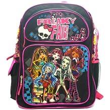 Full Size Black Freaky Fab Monster High Backpack - Monster High Bookbag