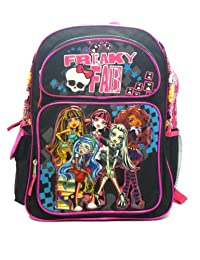 Full Size Black Freaky Fab Monster High Backpack - Monster High Bookbag [Toy]