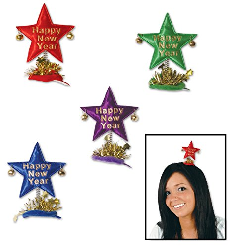 Happy New Year Star Hair Clip (Happy New Year Star Hair Clip)