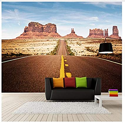 Custom 3D Room Photo Wallpaper Landscape Wall Murals For Living Room  Highway Rock Canyon Tv Wallpaper
