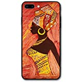 Happy Index African Woman iPhone 7 Plus Case iPhone 8 Plus Case Soft TPU Shell Shock-Absorption Bumper Anti-Scratch Case Enhanced Grip Protective Defender Cover